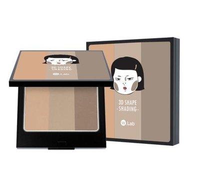 巧麟韓妝免稅店代購- W.Lab 3D SHAPE SHADING 陰影粉 10g 韓國熱銷 代購