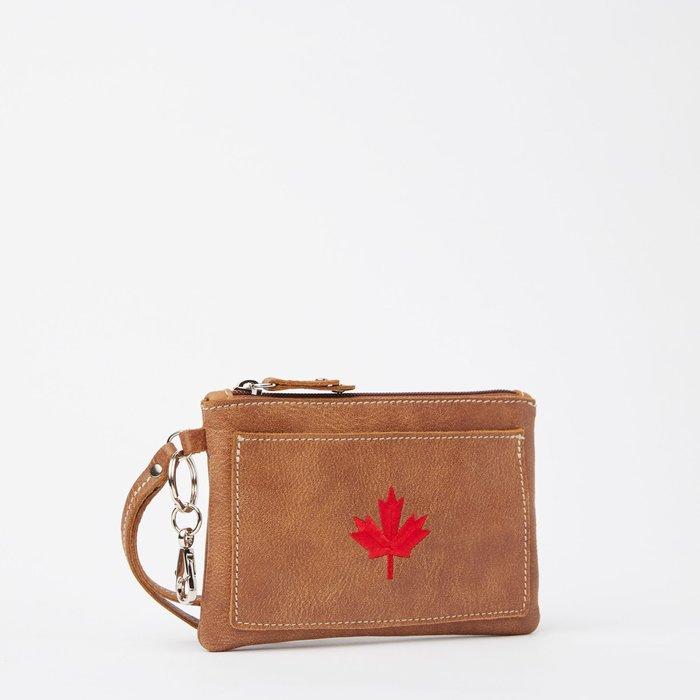 ~☆.•°莎莎~*~☆~~加拿大ROOTS MAPLE LEAF EVERYDAY CLUTCH TRIBE 手拿包