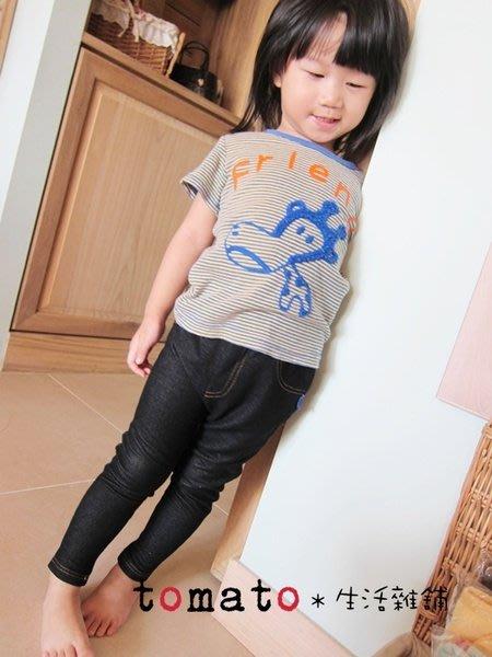 ˙TOMATO生活雜鋪˙日本進口CodyCody倫敦設計仿牛仔棉質兒童彈性內搭褲(特價)