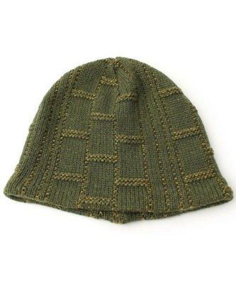 Ca4La日本製 *撞色之間棋盤紋格極曖羊毛針織帽, 日本熱賣款,超人氣的一頂(NO.1073)