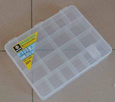 優達團購☆看的見20格收納盒 TFL020 收納箱 整理箱 工具箱 分類盒 零件盒 置物盒 整理盒4L 12入1550元 台南市