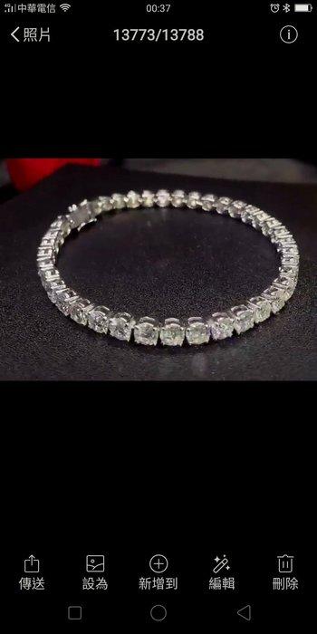 鑽石飾品配件珠寶高碳鑽石手鍊手環925純銀手鏈 滿鑽爪鑲高檔飾品仿真鑽石鉑金真鑽質感不扯衣物正品華麗搭配手錶最好看莫桑鑽寶特價出清保證精品