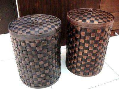 Y【永晴峇里島】巴里島風編織桶,可當垃圾桶/收納桶,置物桶,居家,民宿,飯店都好用-置物桶1