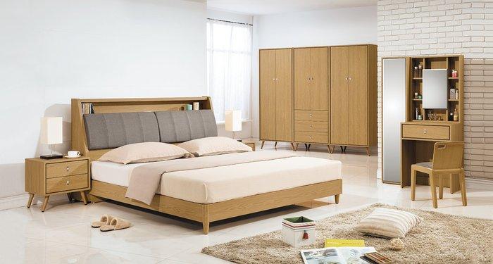 【歐瑞家具】YA-101-4無印風6尺雙人床台組/組合櫃/皮沙發/餐桌/超低價/系統家具/高品質/1元起