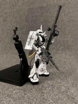 GUNDAM白狼薩克ZAKU-02FZ MC合金完成品包含展示台座