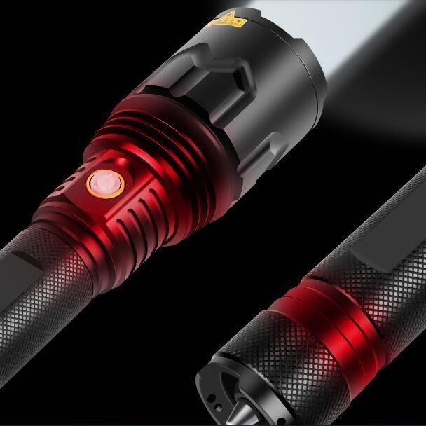 手電筒 P70強光手電筒充電戶外超亮防水大功率遠射3000米聚光26650氙氣燈 芬芬細雨Al免運 可開發票