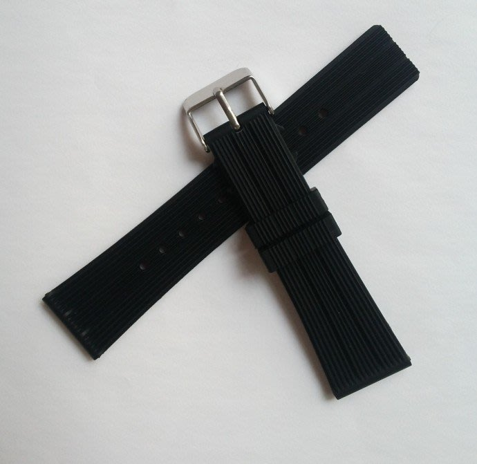 湘格里硅膠表帶22mm橡膠手表帶 針扣輪胎紋膠帶 手表配件時尚百搭錶帶 手錶配件
