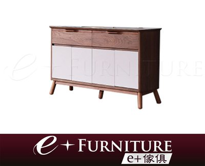 『 e+傢俱 』BF5 丹森 Denson 現代時尚 木作雙色設計 餐邊櫃 | 玄關櫃 | 收納櫃