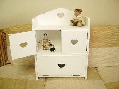 松木 實木  收納櫃 置物櫃**樂在幸福**木作坊 ~A14~白色實木三門收納箱