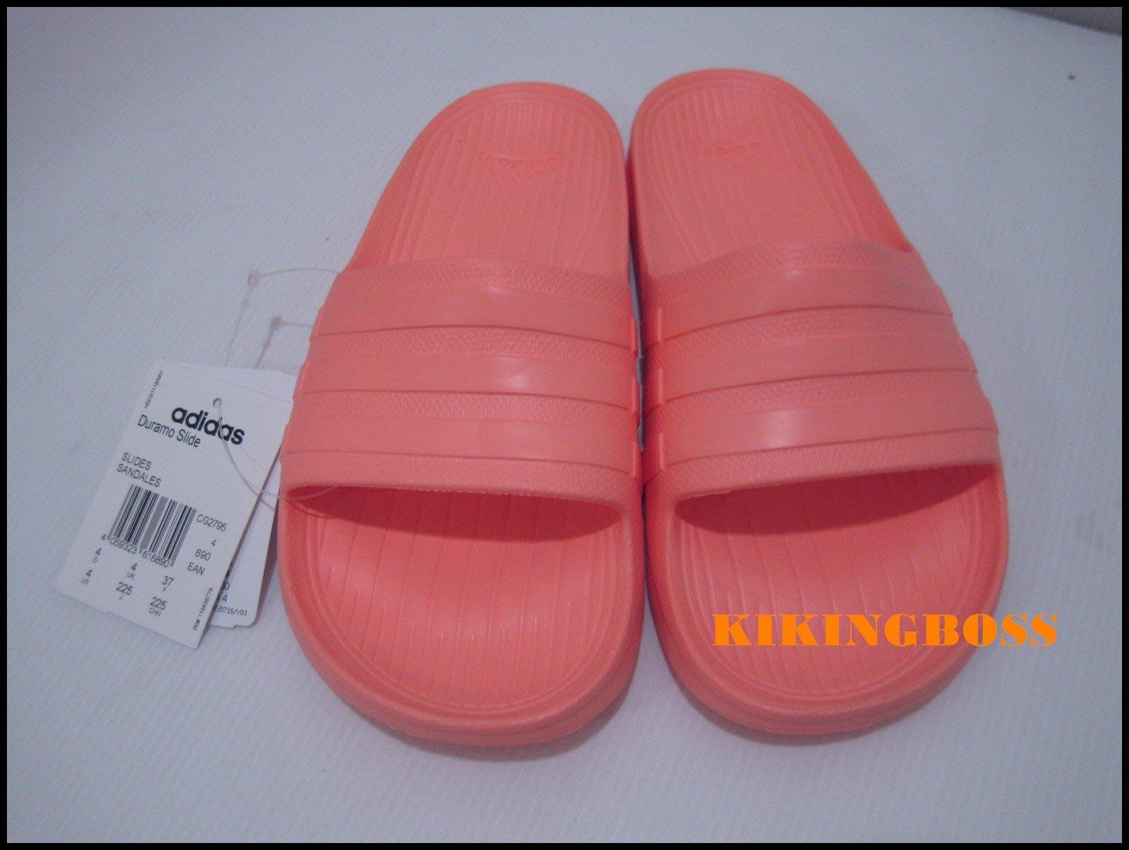 f9f893734c5b80 喬治城 ADIDAS DURAMO SLIDE 運動拖鞋女款粉橘色CG2795 特價590元 ...