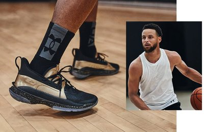 UA Curry 7 EARN IT 黑金配色 Under Armour 。太陽選物社