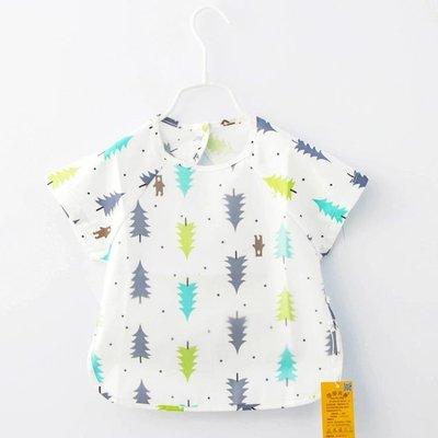☜男神閣☞春夏兒童罩衣寶寶防水口水吃飯圍兜男女童小孩畫畫喂飯反穿衣棉質