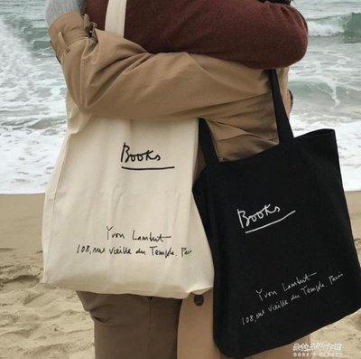 ZIHOPE INS新版書店周邊韓風單肩帆布包搭配刺繡女孩 小金針ZI812