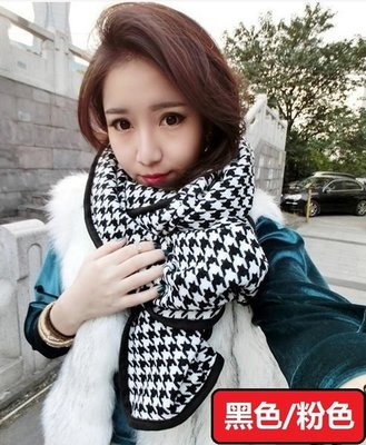 圍巾韓國千鳥格秋冬時尚款造型披肩羊絨圍脖街頭潮人免運費 Display