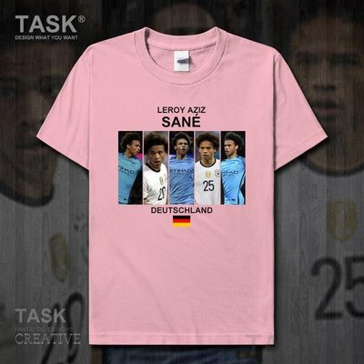 TASK 勒魯瓦薩內純棉短袖T恤男女夏季Leroy Sane德國球衣足球衫20