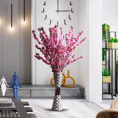 高仿花室內裝飾落地花藝套裝婚慶裝飾花桃花臘梅花樹枝櫻花塑料假花