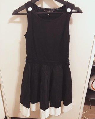 Agnes b.正品黑白拼色無袖小洋裝 連身裙 高雄市