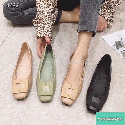 時尚簡約方扣內增高平底鞋(20 MAR cs493)