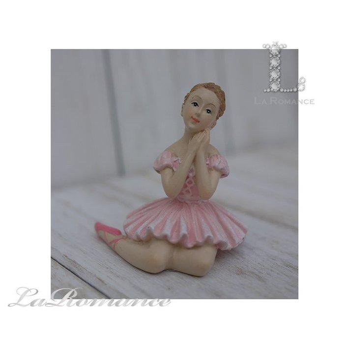 【義大利 Cupido & Company 特惠系列】 粉色芭蕾舞女擺飾 (手托臉) / 童趣人物