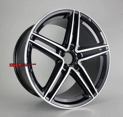 【田中輪胎館】2018新款 類AMG 新款 18吋 賓士全車系適用 前後配 8J + 9J 黑車面