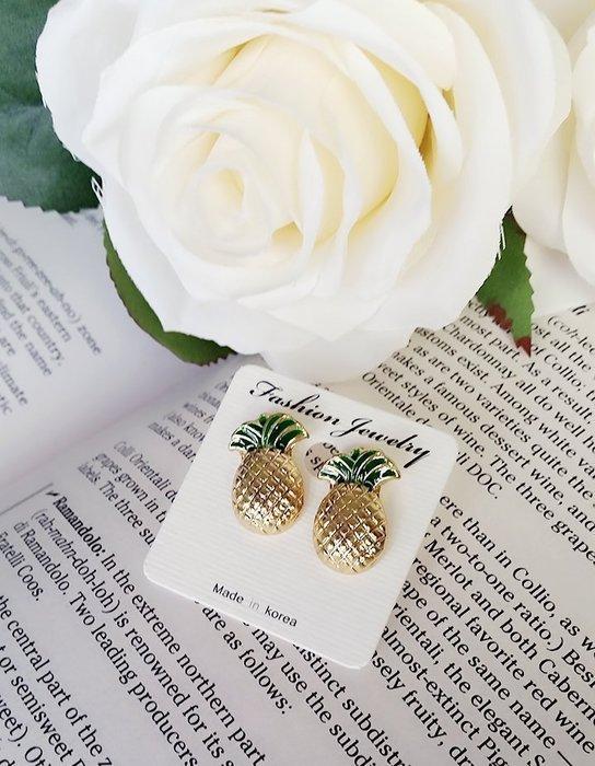 ♥可愛特賣♥正韓夏日 清涼 旺旺甜蜜鳳梨 耳環 現貨+追加ⓜⓐⓓⓔ ⓘⓝ ⓚⓞⓡⓔⓐ她很漂亮