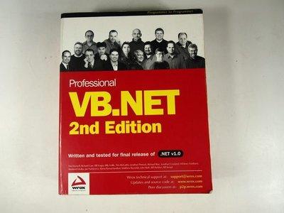 【考試院二手書】《Professional VB.NET, 2nd Edition》│Peer Information│Fred Barwell│八成新(31F15)