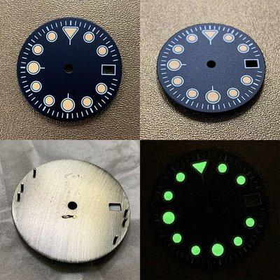 表叔配件新款WATCH手錶配件綠夜光28.5適合NH35/NH36機芯錶盤literal