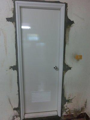 浴室門 門框 門片舊換新 75公分以下標準型門框 +PVC 塑鋼門框 +素面門片 +鎖匙+代客安裝