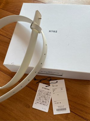 日本製 HYKE OFF WHITE LEATHER BELT 2號 COWHIDE 真皮 牛皮 皮帶 設計師