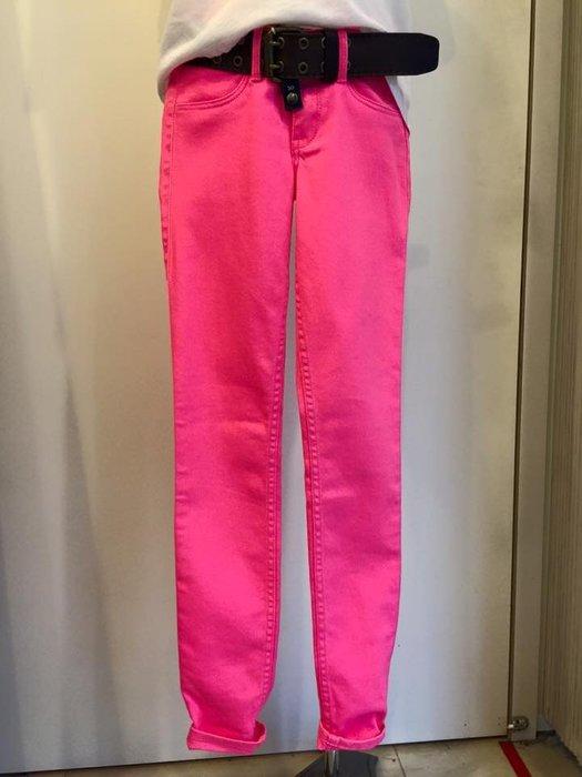 Hollister HCO 女生 Hollister Pants 彈力棉質休閒長褲 螢光粉 W24 現貨