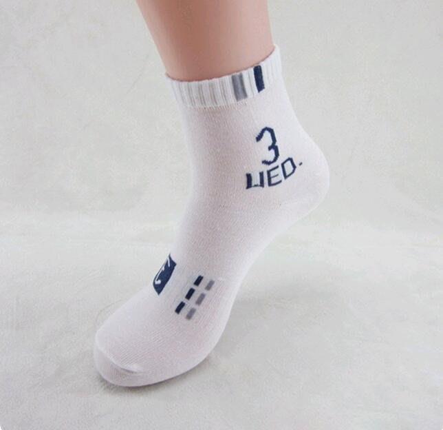 七天創意數字棉襪(有灰.白色可選)