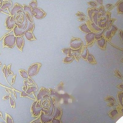 貼紗pvc膠片透明金邊勾花中式裝修diy燈罩玫瑰花透光燈箱