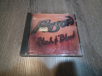 法蘭克的店-直購 二手 CD 重金屬 毒藥 POISON 合唱團 Flesh & Blood 專輯 已絕版 北美版