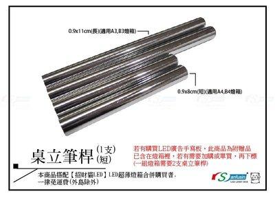 【招財貓LED】無框(水晶)超薄燈箱專用- 0.9x8CM桌立筆桿(短)(適用A4,B4燈箱(單支)