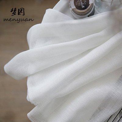 現貨/北歐簡約現代純色落地窗簾 白紗飄窗紗簾隔斷窗紗布料成品定制18SP5RL/ 最低促銷價