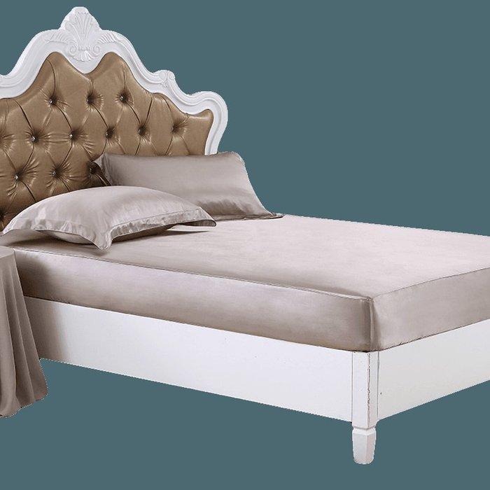創意 可愛 床笠嘉絲麗真絲床單床笠 100 桑蠶絲綢雙人床笠 加厚床包床罩床套