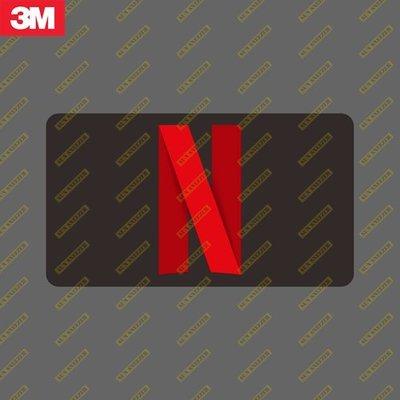 Netflix N LOGO 橫幅 3m防水貼紙 尺寸88X65mm