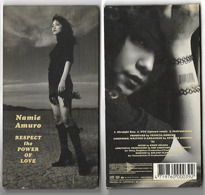 【原版-3吋單曲CD】mamie amuro安室奈美惠。RESPECT the POWER OF LOVE