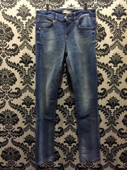 ☀APPLE SHOP☀ UNIQLO 彈力緊身牛仔緊身褲 直筒褲(藍)