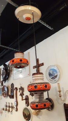 【卡卡頌 OMG歐洲跳蚤市場 / 西洋古董 】德國  手工  陶瓷  彩釉  吊燈 (可調長度) l0014✬
