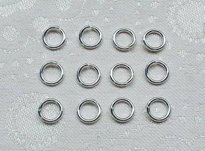 嗨,寶貝手創飾品* 925純銀飾 DIY串珠配件☆7mm扣環 DIY銀配件定位珠 C圈 扣環(粗款1.1mm 開口)
