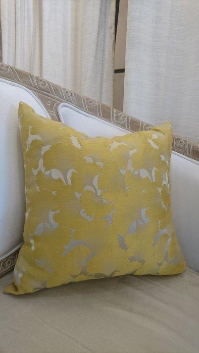 [C039]高檔緹花布 金黃銀杏 45*45公分 抱枕 低調奢華 復古 古典 美式 棉心另購