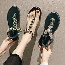 小尤家~網紅涼鞋女夏款學生韓版百搭水鉆羅馬鞋波西米亞風超火仙女鞋