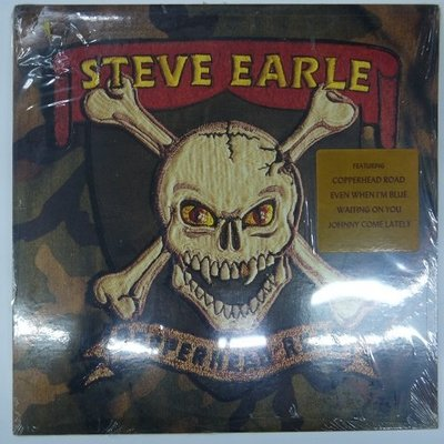 合友唱片 Steve Earle - Copperhead road 史提夫‧厄爾 1988 黑膠唱片 LP 面交自取
