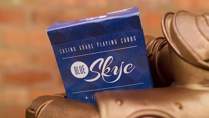 [魔術魂道具Shop]視覺錯亂藍天牌~~Blue Skye Playing Cards by UK Magic