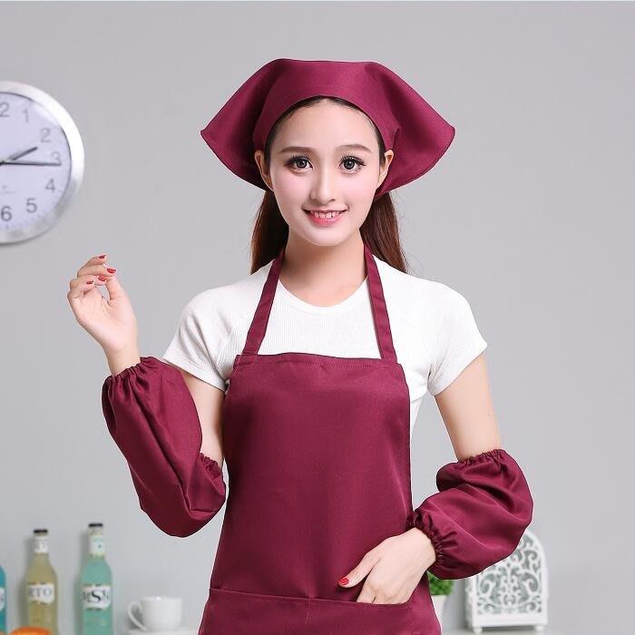 2個裝服務員男女廚房工作頭巾帽日式廚房餐廳火鍋店三角巾廚師帽子簡潔 【安可居】