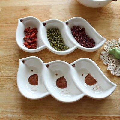 ~愛麗絲 家飾雜貨~zakka雜貨可愛小鳥 陶瓷三格醬油碟  廚房用品