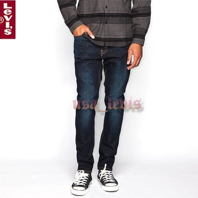 【新款貼身窄版】美國LEVI'S Skinny 510 Nevermind 深藍養褲合身窄管小直筒牛仔褲28-38腰511優惠