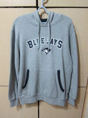 衣市藍~MLB Major League Baseball BLUE JAYS 連帽內刷毛大學T(M~)(210302)