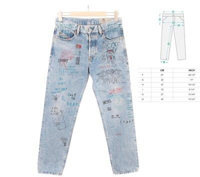 DIESEL Jeans Vintage Look限量塗鴉 Skinny Fit Size 29